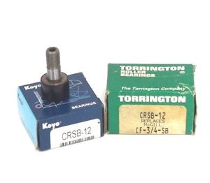 LOT OF 2 NIB KOYO & TORRINGTON CRSB-12 CAM FOLLOWER BEARINGS CRSB12
