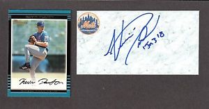 Kevin Deaton  RHP MINORS 2000-07  METS  A' s SIGNED AUTOGRAPH AUTO 3×5 INDEX COA