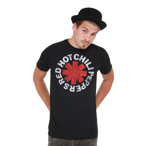 Red Hot Chili Peppers – Vintage Distressed Logo T-Shirt Black