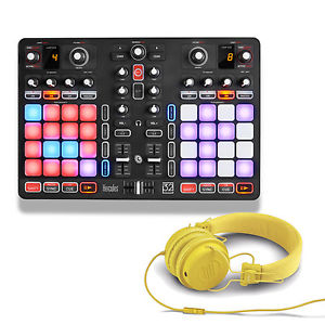 HERCULES P 32 DJ USB Midi Controller + Pair of Reloop RHP-6 Yellow Headphones