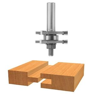 Bosch 84624M 1/2-Inch Shank Tongue & Groove Router Bit 3-Wing With Bearing