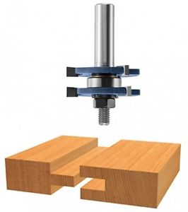 Bosch 84623M 1/4-Inch Shank Tongue and Groove Router Bit 3-Wing With Bearing