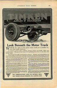 1913 AD Truck Lauth Juergens Rayfield Bosch Mea Fremont Ohio Timken Axle Bearing