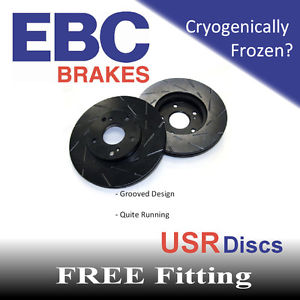 EBC USR Slotted Front Brake Discs for CITROEN C4 2.0 TD (Bosch Rear 25mm Bearing