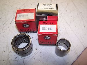 3)  MCGILL MR 18 SRS & MCGILL MI-15  BEARING LOT OF 3