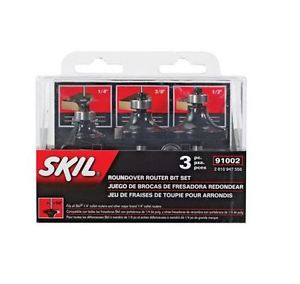 Skil Carbide Tipped Roundover Router Bit Set Hex Key Replacement Bearing Tools
