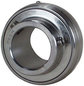 Peer Bearing SUC206-20 Stainless Steel Insert Bearing, SUC200 Series, Wide Inner