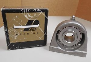 "PEER BEARING STAINLESS S/S SS 3/4"" TAPPED BASE PILLOW BLOCK SSUCPAS204-12 NIB"