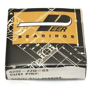 Peer Bearing 6202-ZZD-C3 Radial Groove Ball Bearing 15x35x11