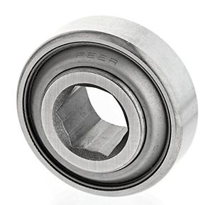 "Peer Bearing 203KRR2 Agriculture Bearing, Two Single Lip Seals, 0.6400"" ID,"