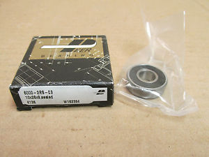 NIB PEER 60002RS BEARING RUBBER SHIELD BOTH SIDES 6000 2RS C3 10x26x8 mm