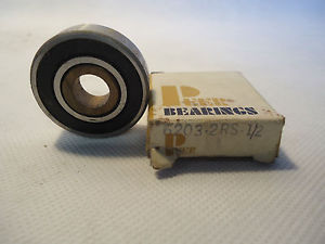 IN BOX PEER BEARINGS 6203-2RS-1/2 BEARING