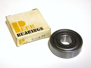 BRAND  IN BOX PEER BALL BEARING 17MM X 47MM X 14MM 6303-ZZ (6 AVAILABLE)