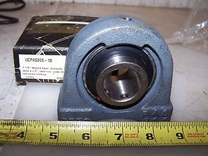"PEER 1-1/8"" TAPPED BASE PILLOW BLOCK BEARING UCPAS206-18"