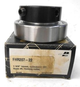 "PEER BEARING, INSERT BEARING, FHR207-22, 1.375"" BORE, 2.8346 OD, LOCKING COLLAR"