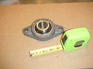 """1) *, PEER FT207, 2-BOLT FLANGE with UC207-20, 1-1/4"""" Bore, Insert Bearing"""