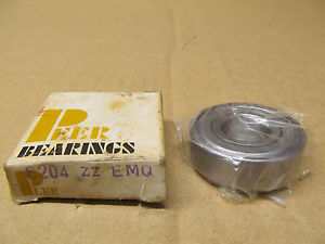 1 NIB PEER 6204-ZZ 6204ZZ DEEP GROOVE BALL BEARING SHIELDED BOTH SIDES