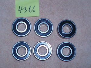 W6203 RS PEER Bearings one lot of 6 pcs.