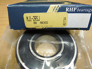 RHP MJ 2RS Rubber Sealed Imperial Radial Ball Bearing. 1inch x 2.1/2inch x 3/4in