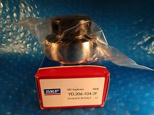 SKF YEL206-104-2F, Ball Bearing Insert Outer Ring Eccentric Collar,Double Sealed