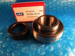 "SKF YEL206-103-2F, Ball Bearing Insert, 1-3/16"" x 62mm- Locking Eccentric Collar"