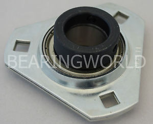 "SAPFT205-14 High Quality 7/8"" Eccentric Pressed Steel 3-Bolt Flange Bearing"