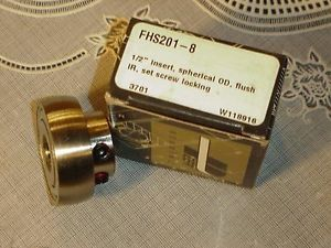 Peer Bearing Unit FHS201-8 with 1/2 Inch Insert Spherical OD  IN BOX!