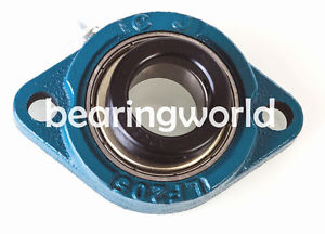 "SALF201-08G  High Quality 1/2"" Eccentric Locking Bearing with 2 Bolt Flange"