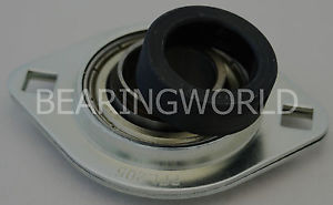 "SAPFL206-18 High Quality 1-1/8"" Eccentric Pressed Steel 2-Bolt Flange Bearing"