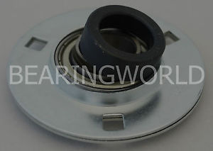 "SAPF207-23 High Quality 1-7/16"" Eccentric Pressed Steel 3-Bolt Flange Bearing"