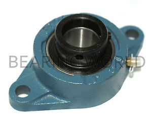 "HCFT207-20 High Quality1-1/4"" Eccentric Locking Collar 2-Bolt Flange Bearing"