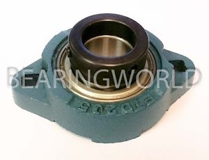"""SAFTD207-23 New 1-7/16"""" Eccentric Locking Bearing with 2 Bolt Ductile Flange"""