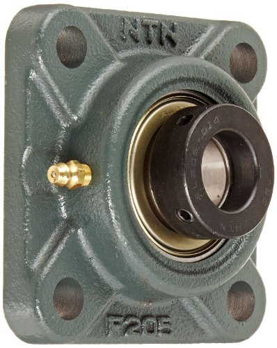 NTN AELF205-014D1 Light Duty Flange Bearing, 4 Bolts, Eccentric Lock,
