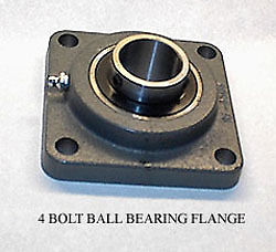 Chicago Rawhide TCJ 1-1/4 Ball Bearing 4 Bolt Flange Eccentric Locking Collar