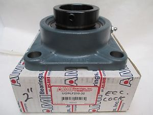 "AMI ECCENTRIC LOCKING COLLAR 4-BOLT FLANGE BEARING UGSLF210-32 UG210-32 2""ID"
