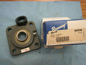 Browning: VF4E-116.  Four Bolt Flange Eccentric Locking Bearing.  New Old Stock