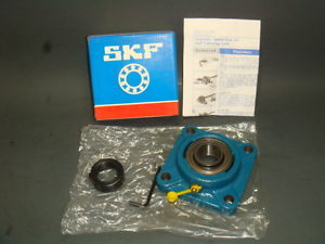 1  SKF FY 1.1/8 FM, FLANGE MOUNT BALL BEARING 4 BOLT SQUARE ECCENTRIC, NIB