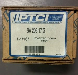 "New  SA206-17G 1-1/16""  Insert Bearing eccentric locking insert IPTCI"