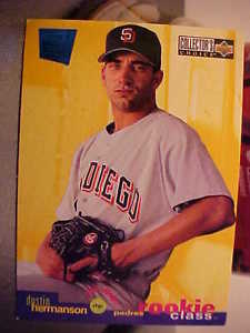 1995 UPPER DECK ORIGINAL/SINGLE DUSTIN HERMANSON-PADRES-RHP #3 ROOKIE MOD 81-NOW