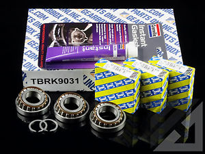 Fiat M32 6 sp Gearbox 3 x uprated modified genuine SNR top casing bearings