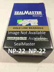 SEALMASTER GOLD SERIES NP 22 New Pillow Ball Bearing Made in US (United States)