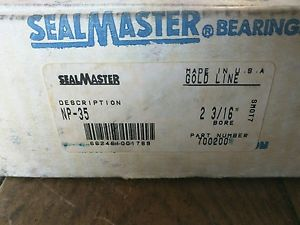 "Sealmaster NP35 2-3/16"" Mounted Ball Bearing Seal Master NP-35 Gold Line 700200"