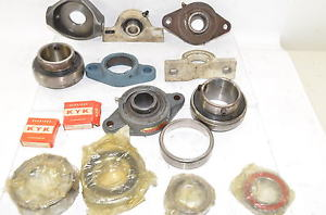 LOT OF 15 LARGE BEARINGS & Housing Mixed Lot Seal Master, KYK & MORE