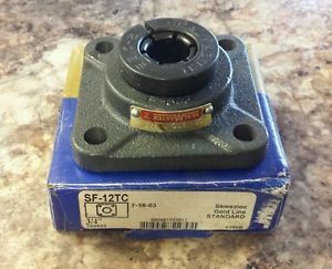"**  Sealmaster   SF-12TC    4-bolt flange bearing    3/4""   Skwezloc"