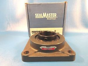 "Sealmaster SF35 2 3/16"" Shaft, Setscrew Locking 4-Bolt Flange Unit"