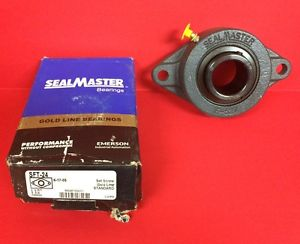 New SealMaster SFT-24 Gold Line Two Bolt Flange-Setscrew ~ 1 1/2""