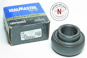 "SEALMASTER 2-18 BEARING INSERT, 1.500"" BORE, SET SCREW COLLAR, STANDARD DUTY"