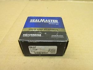 "NIB SEALMASTER ER-23T BALL BEARING INSERT ER23T 1 7/16"" FACTORY SEALED GOLD LINE"