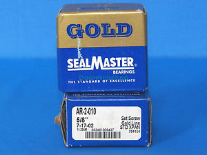 "Gold SealMaster AR-2-010 5/8"" Bearings (2 pcs)"
