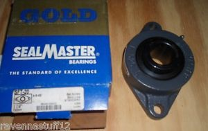 "SEALMASTER SFT-20 2-BOLT FLANGE MOUNT BALL BEARINGS 1-1/4"" BORE ( IN BOX)"